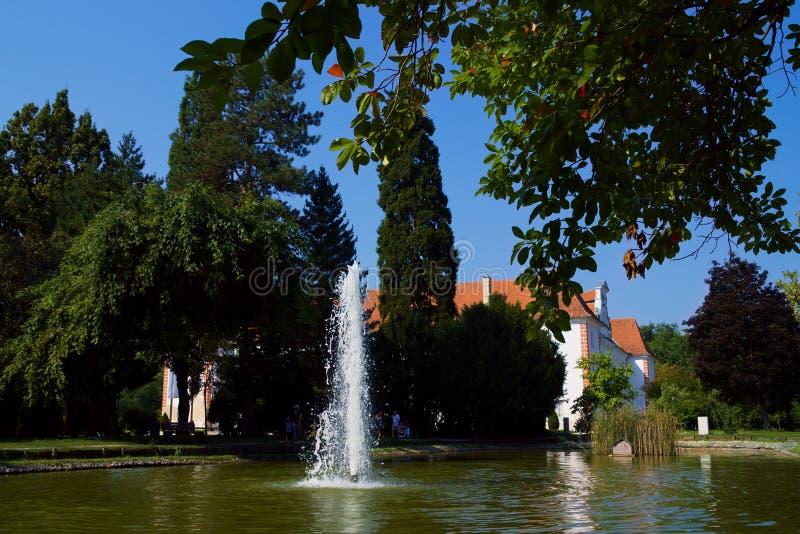 City Park, Murska Sobota, Slovenië stock afbeelding