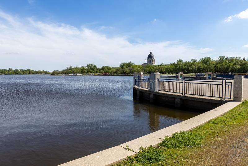 City park of Regina in canada. The city park of Regina in canada royalty free stock photo