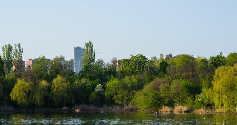 city Park spring stock photo