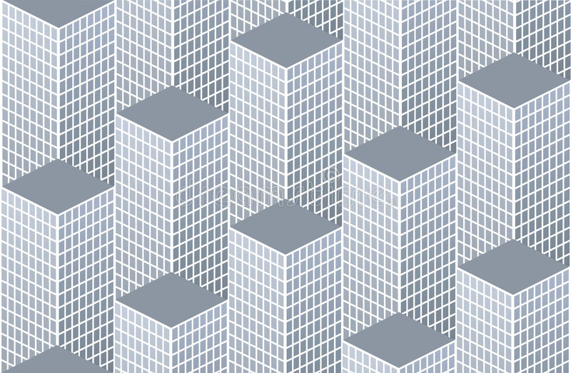 City pattern stock illustration
