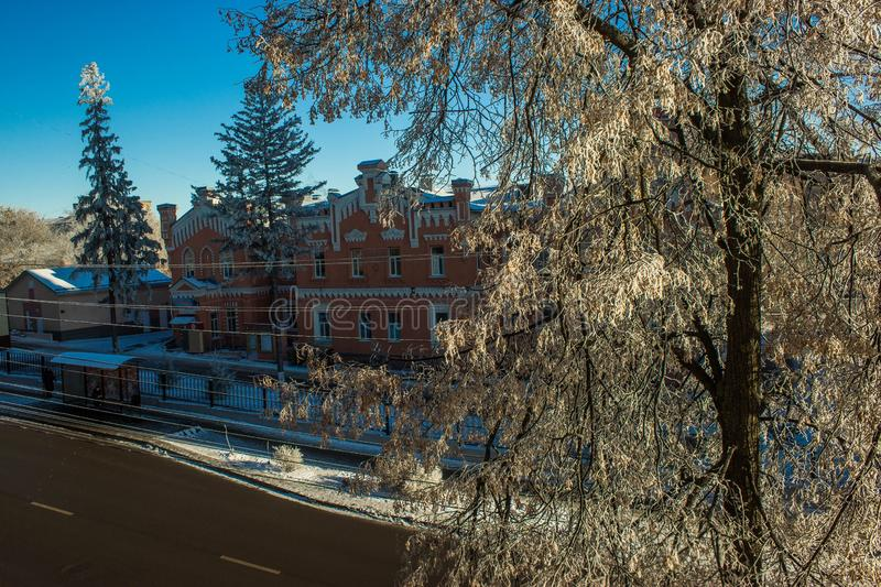 Landscape. The city of Penza, Russian Federation.urban winter landscape royalty free stock photo