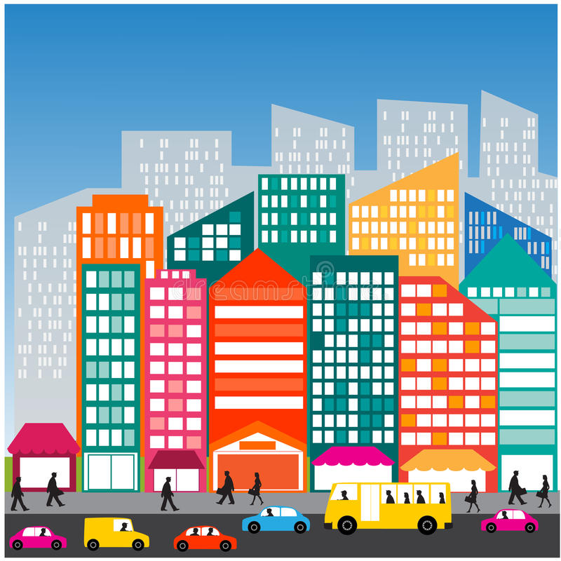 Download City People Car   Street  Traffic  Life Stock Photo - Image of background, population: 41955826