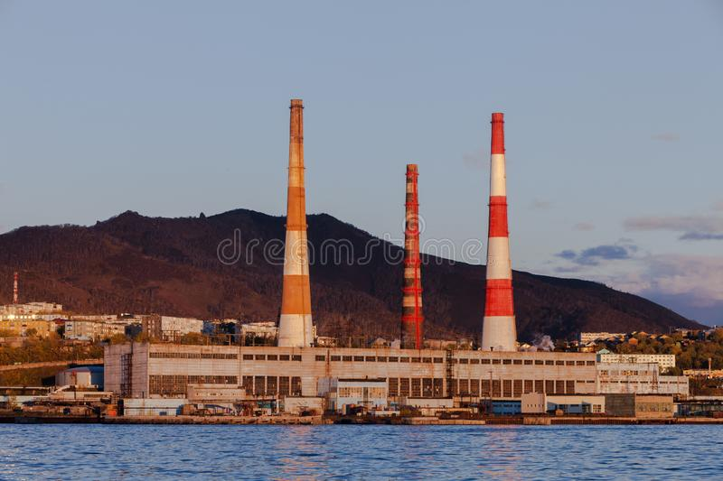 The city of Petropavlovsk-Kamchatsky. In the east of the Russian Federation stock images