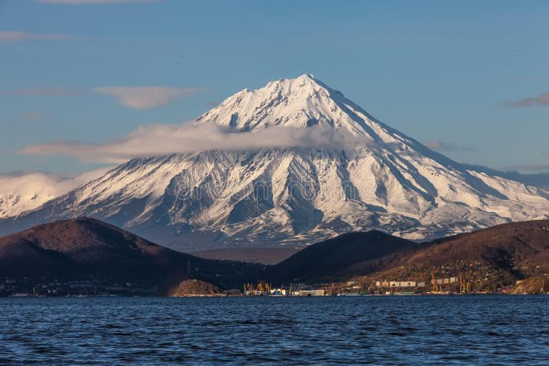 The city of Petropavlovsk-Kamchatsky. In the east of the Russian Federation royalty free stock images