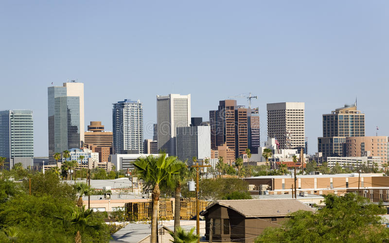 City of Phoenix Downtown, AZ royalty free stock photo