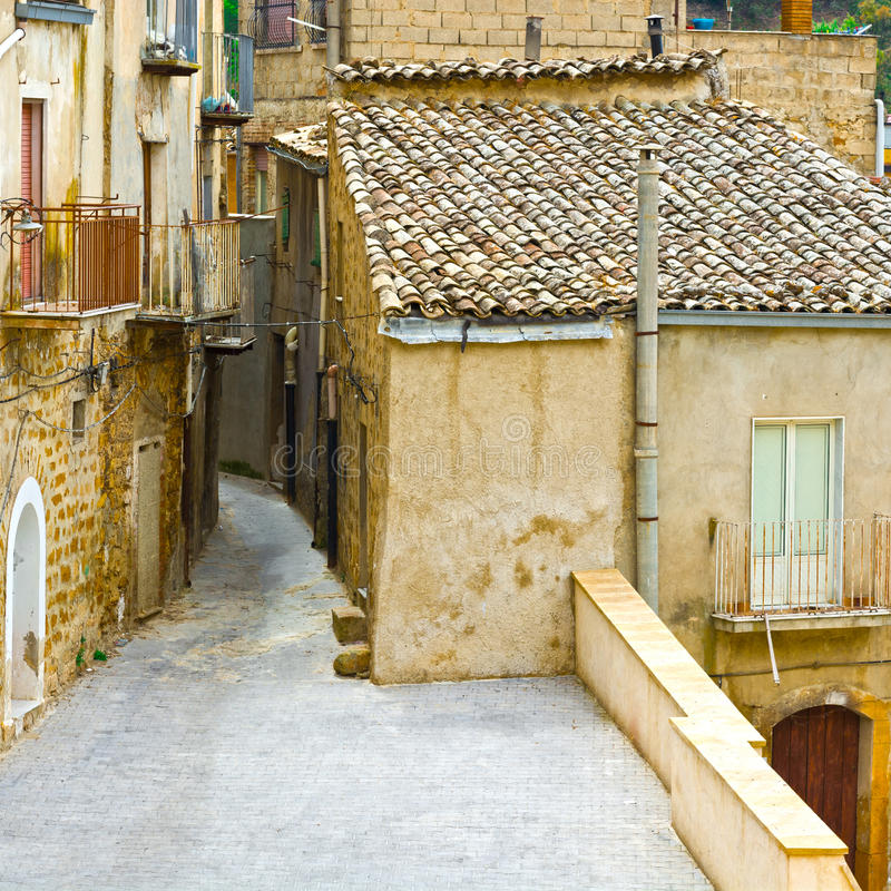 City of Piazza Armerina. View to Historic Center City of Piazza Armerina in Sicily royalty free stock images