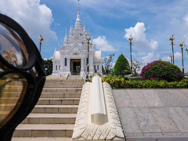 The City Pillar Shrine of Surat Thani province. Tourist Attraction, The City Pillar Shrine of Surat Thani province of Thailand. Surat Thani is province in royalty free stock images