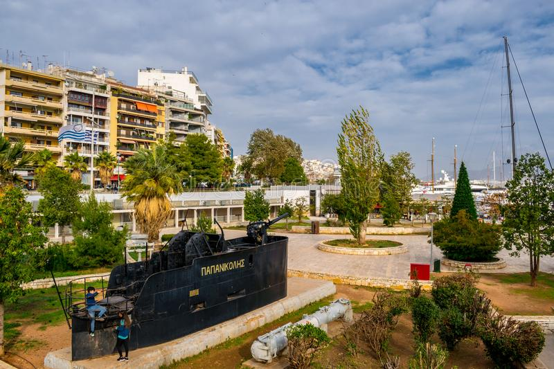 The city of Piraeus stock photo