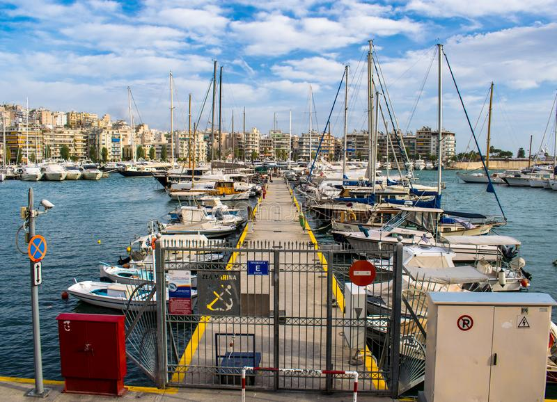 The city of Piraeus stock photos