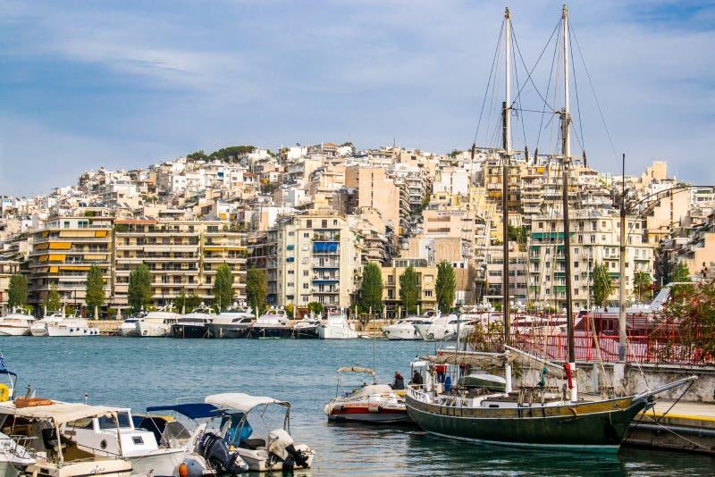 The city of Piraeus royalty free stock image