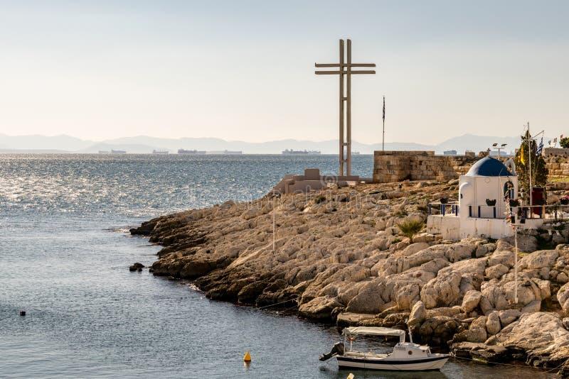 The city of Piraeus stock photography