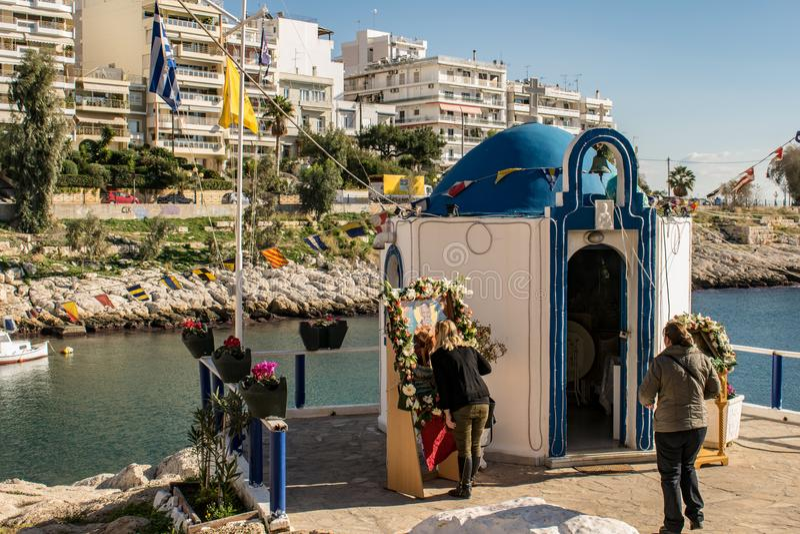The city of Piraeus stock photo