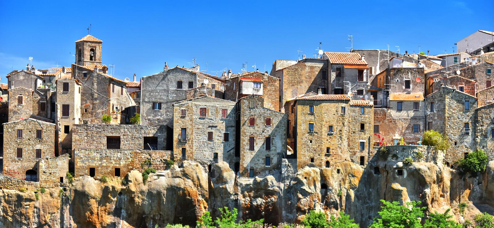 City of Pitigliano in the province of Grosseto in Tuscany, Italy. City of Pitigliano in the province of Grosseto in Tuscany, Italy royalty free stock photos