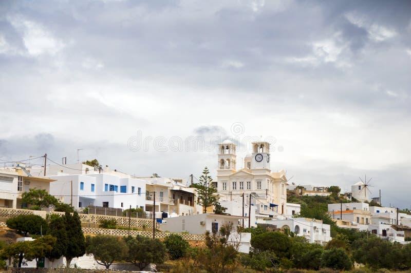 City Plaka Milos Cyclades Greek Island Stock Photography