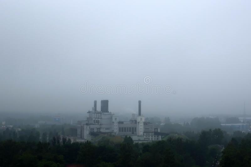 City in a fog royalty free stock photo