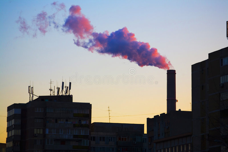 Download City pollution stock image. Image of tower, dirty, architecture - 5150723