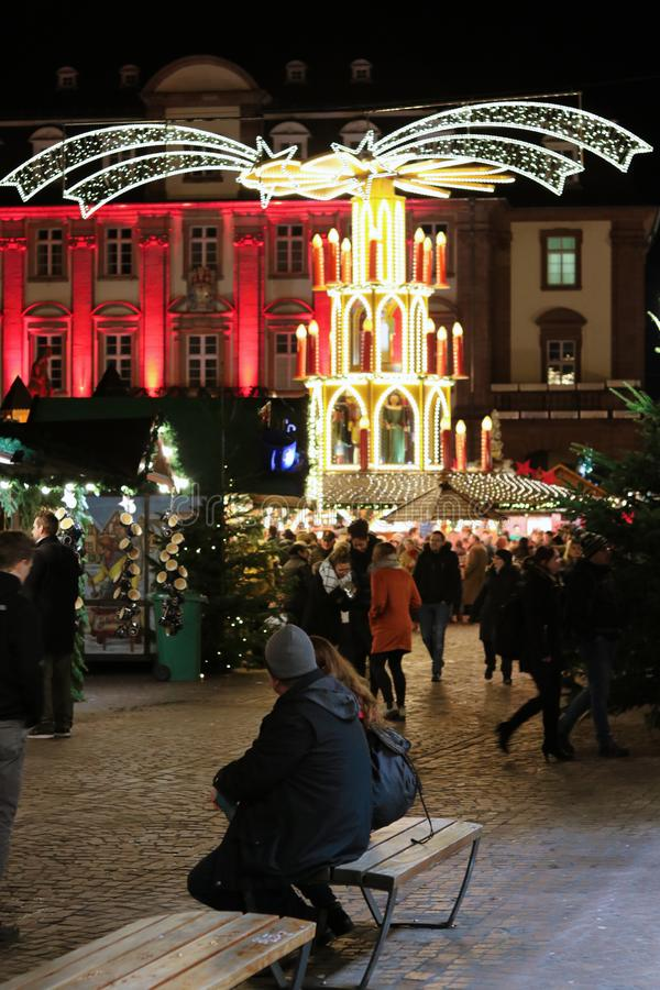 Winter fair in the city. The city is preparing for Christmas. Fairs and roundabouts in anticipation royalty free stock images