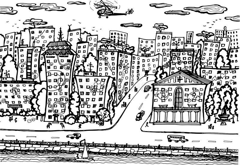 City quay. stock illustration