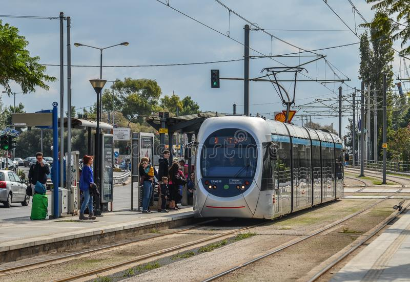 City railway in Athens, Greece. Athens, Greece - Oct 11, 2018. City railway in Athens, Greece. Athens is a global city and one of the biggest economic centres in stock photos