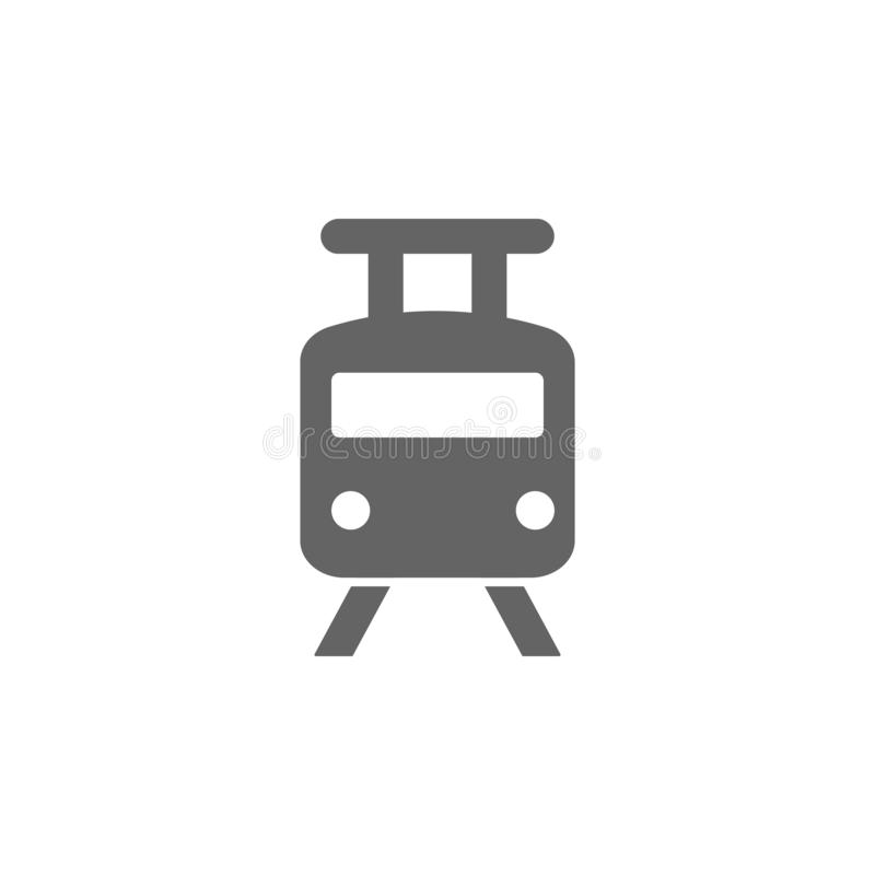 City, railway, tram  icon. Element of simple transport icon. Premium quality graphic design icon. Signs and symbols collection stock illustration