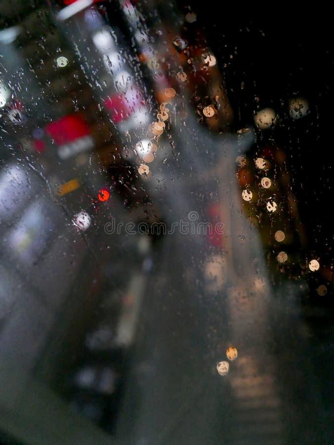 City, rain lights, glass,night, abstract, bur stock photos