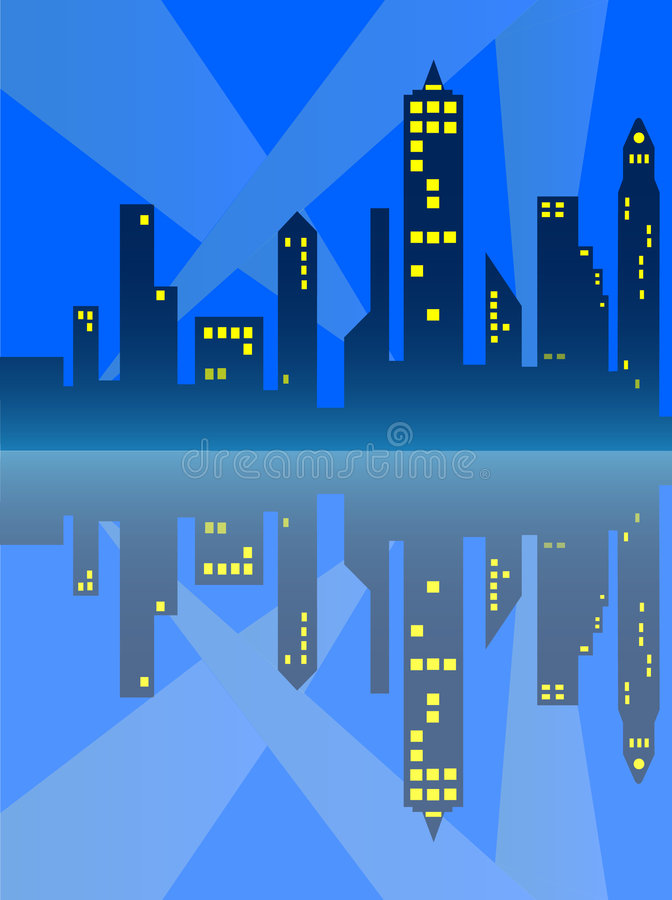 Download City Reflection stock illustration. Illustration of reflection - 445832