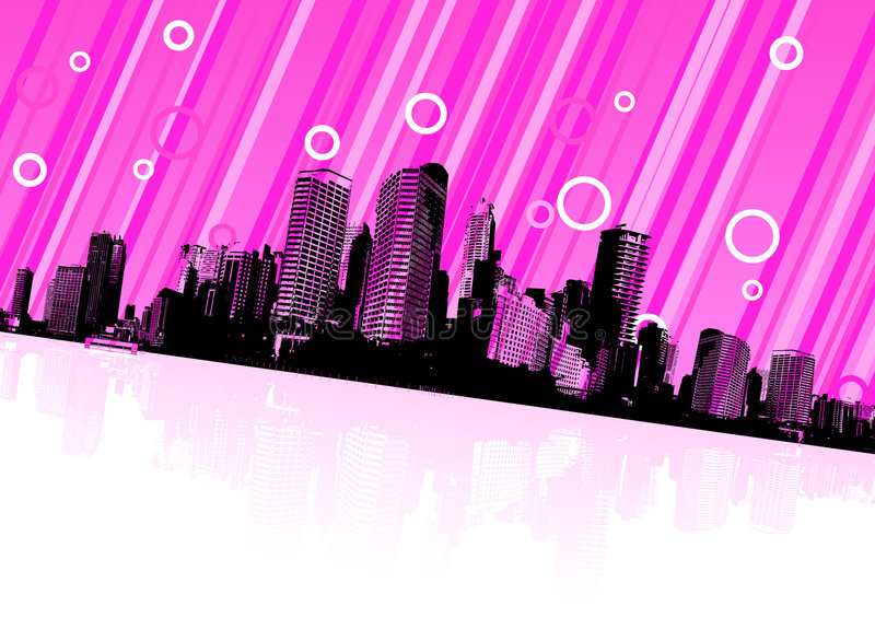 Download City Reflection On Water. Vector Stock Vector - Image: 7282156