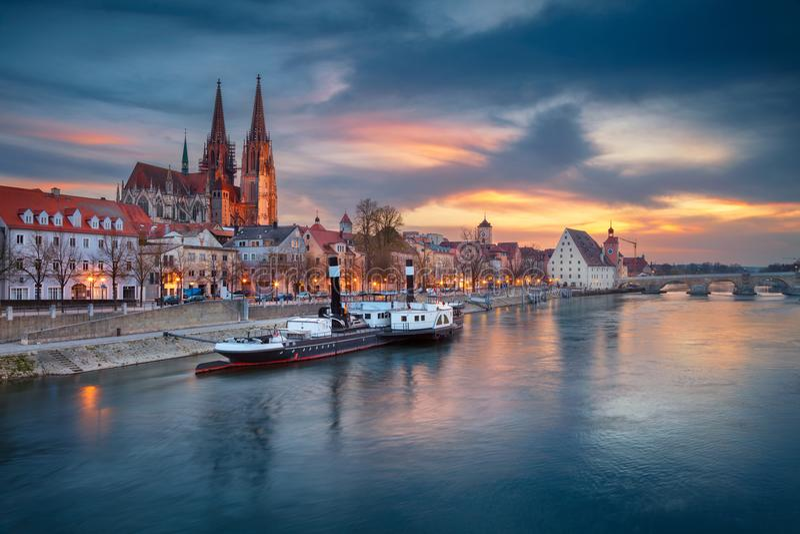 City of Regensburg. stock photography