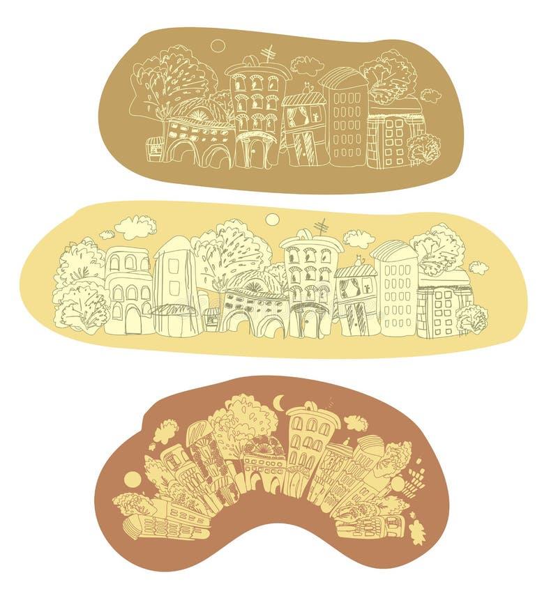 City in retrostyle vector illustration