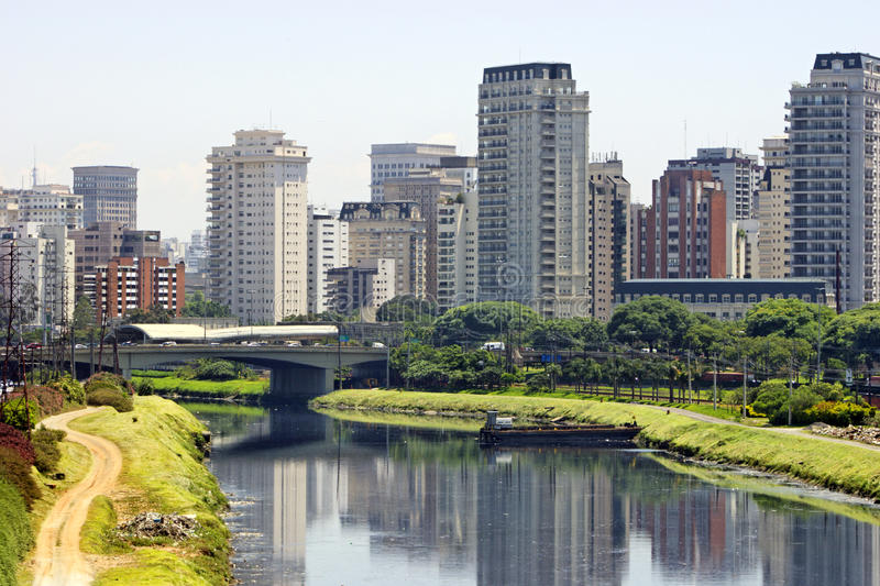 City And River - Sao Paulo / Brazil Royalty Free Stock Images