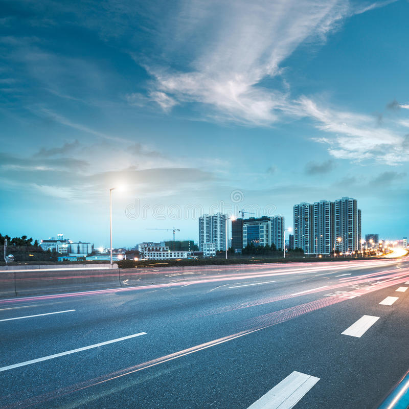 City and road royalty free stock image
