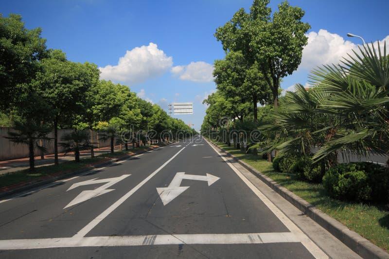 City road in Shanghai stock photo