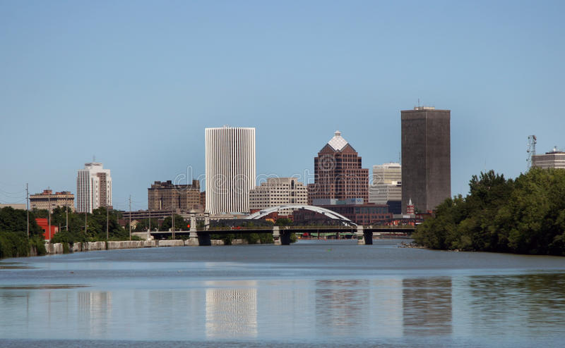 City of Rochester New York Skyline in Upstate NY stock photo