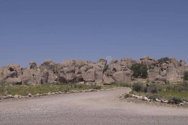 City of Rocks state park. This is one of many views of City of Rocks state park in Grant county, New Mexico, USA royalty free stock image