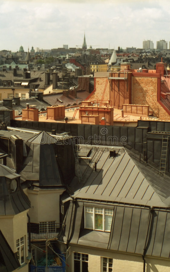City roofs royalty free stock photo
