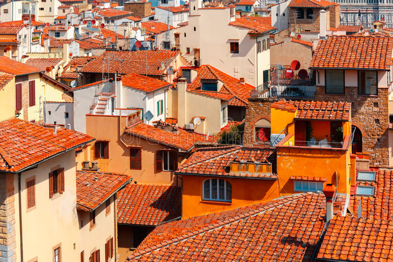 City rooftops in Florence, Italy stock photography