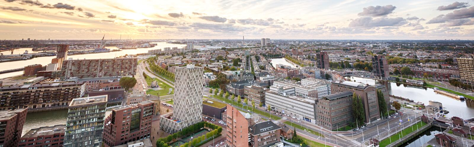The City of Rotterdam, the Netherlands stock photo