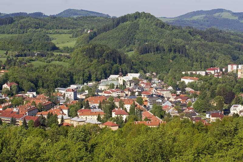City Roznov pod Radhostem royalty free stock images