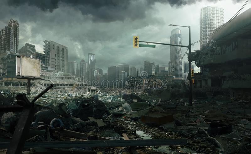 City In Ruins stock images