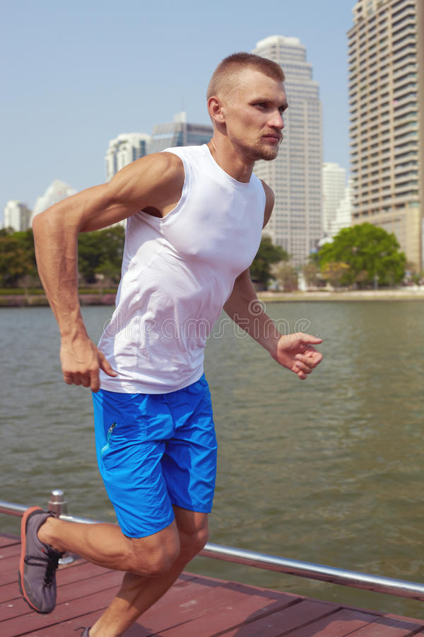 Download City run a stock image. Image of river, jogging, fitness - 39509455