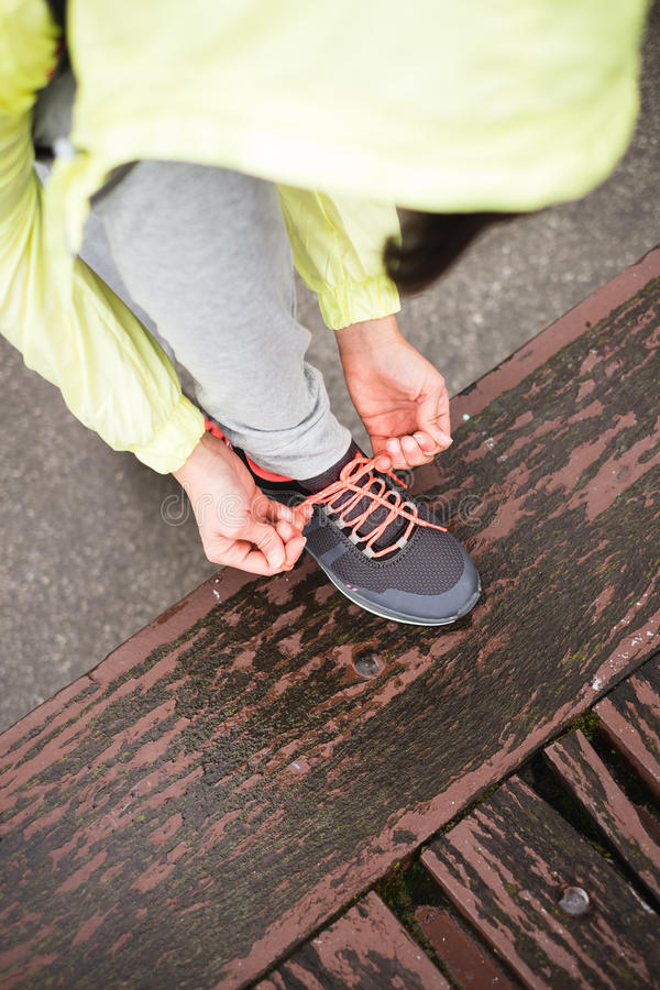 Download City Runner Lacing Sport Footwear Before Training Stock Image - Image of concept, healthy: 41862771