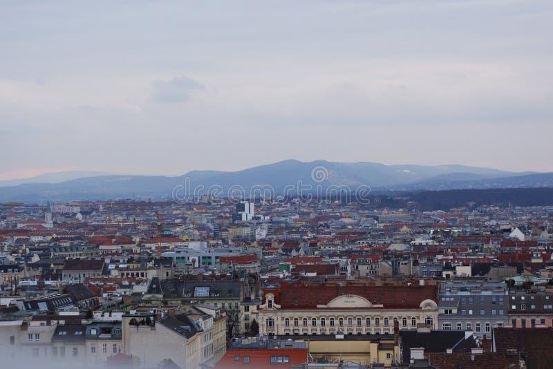 City& x27; s-Ansicht von Wien stockbilder