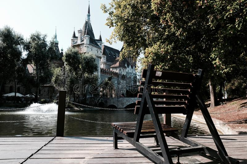 The city`s attractions. Traveling in Europe. Budapest Hungary old castles stock photos