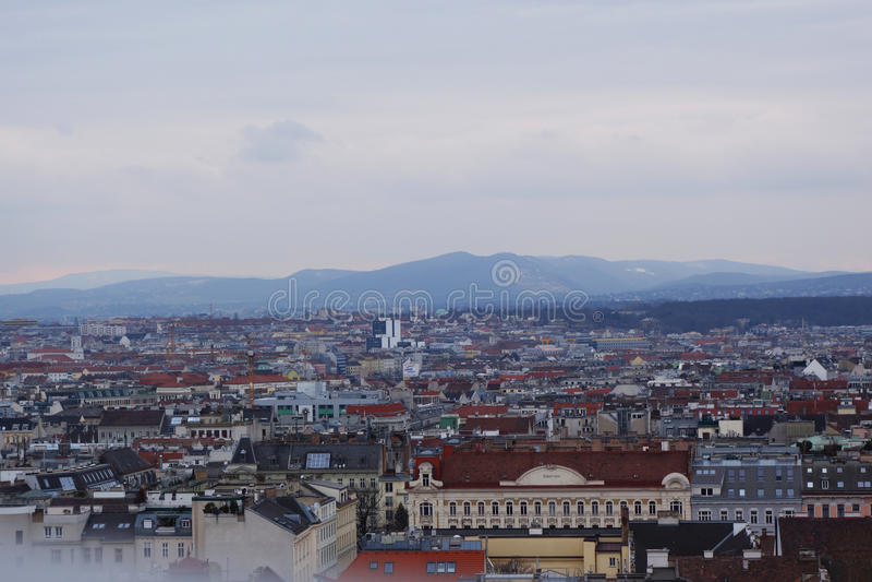 City& x27; s mening van Wenen stock afbeeldingen