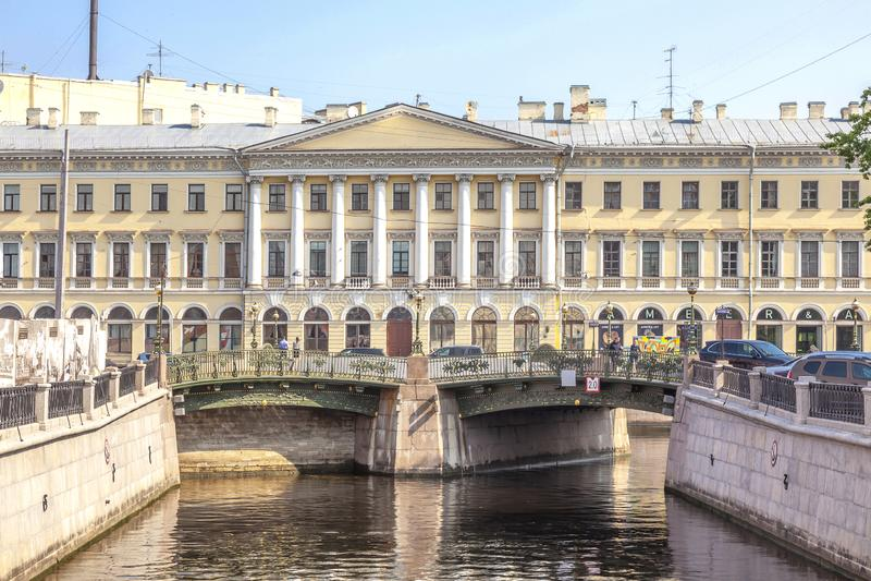 City of Saint Petersburg. Griboedov Canal stock photos
