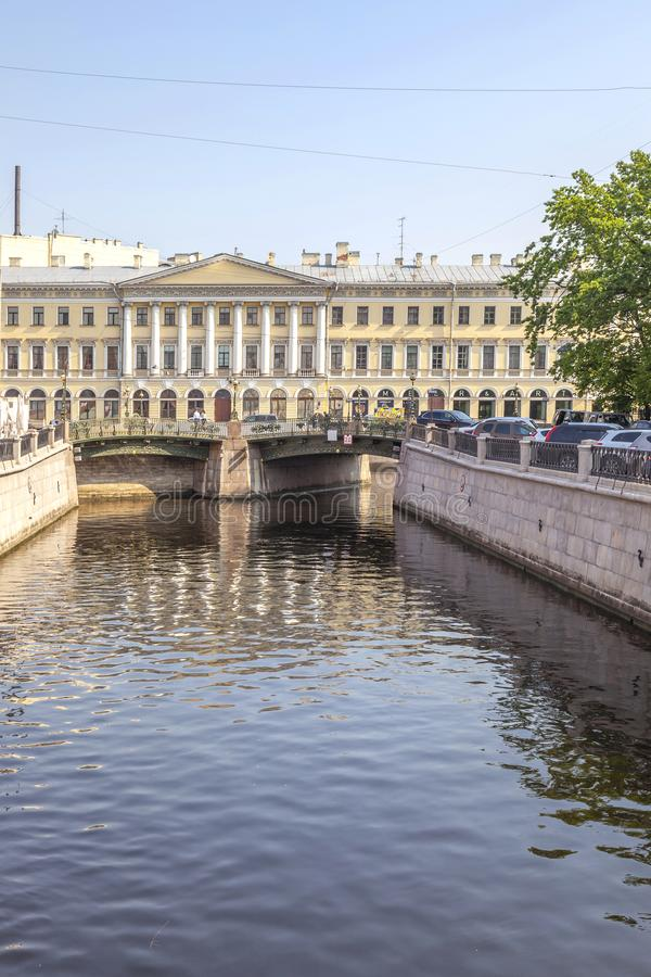 City of Saint Petersburg. Griboedov Canal royalty free stock image