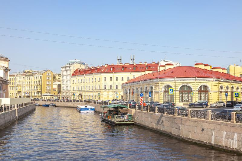 City of Saint Petersburg.River Moika stock images