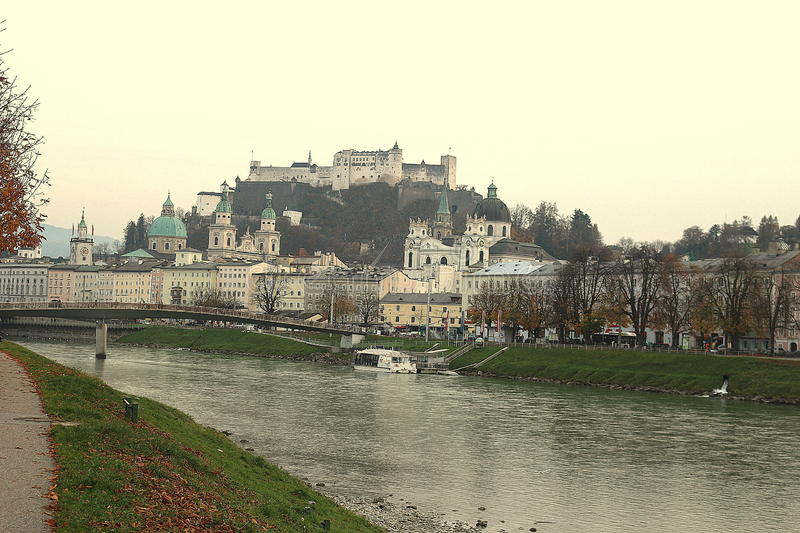 The city of salzburg in Austria royalty free stock photos