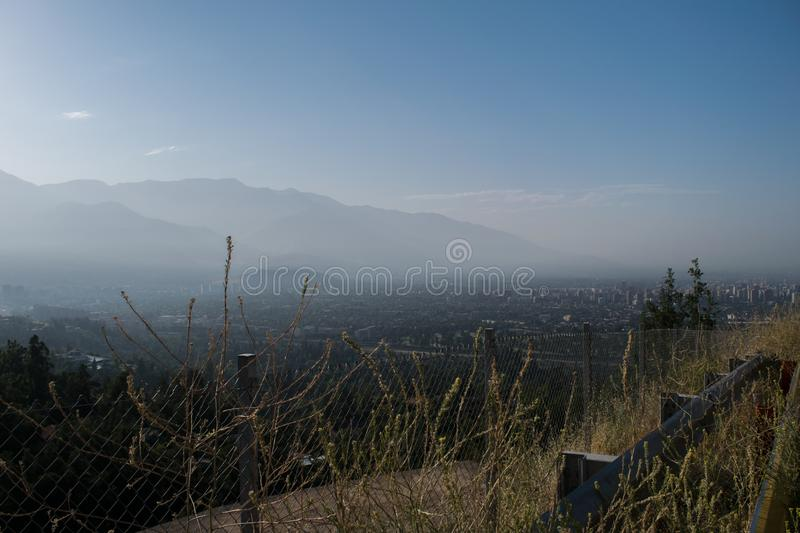 The city of Santiago in the morning stock photos