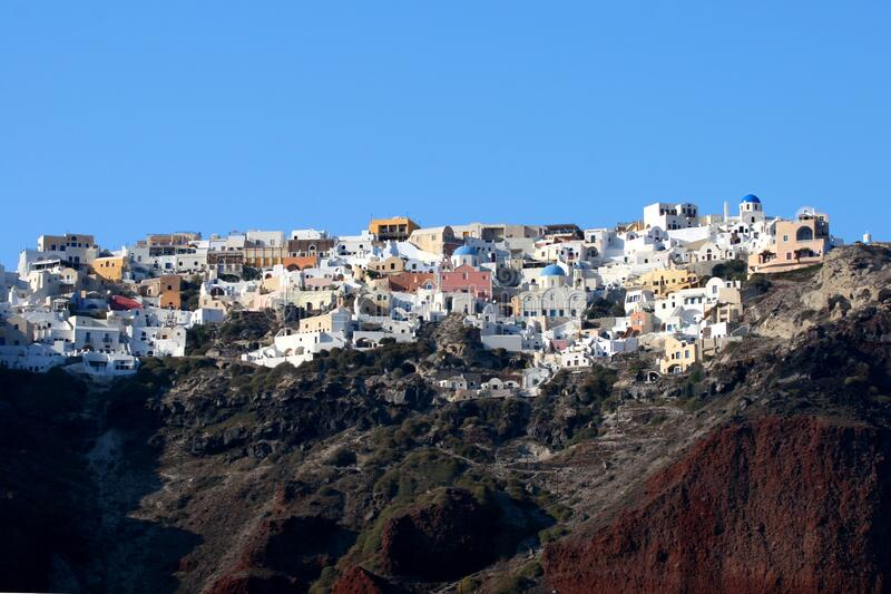 City on Santorini island in Greece royalty free stock image